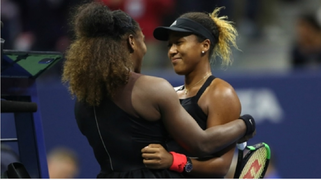 Serena Williams (left) and Naomi Osaka US Open.