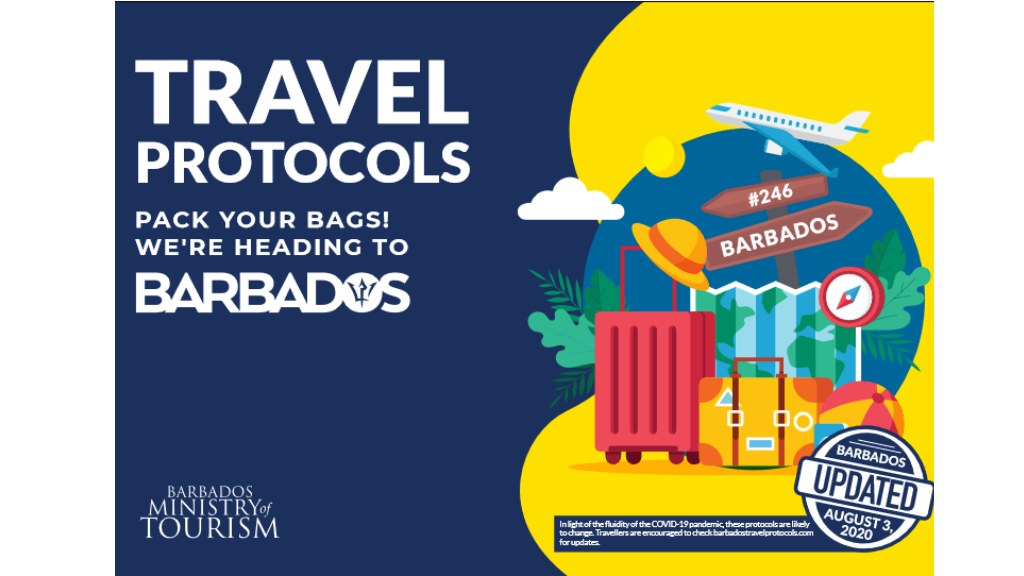 Travel protocols for Barbados updated Aug 3