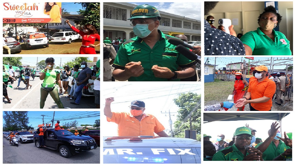 A collage of political activities on Nomination Day.