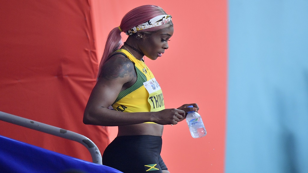 Elaine Thompson at the World Athletics Championships in Doha, Qatar.
