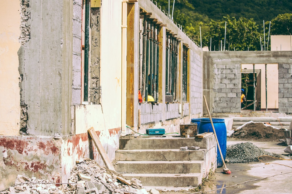 Ongoing work at Hillsborough Health Centre, Carriacou.