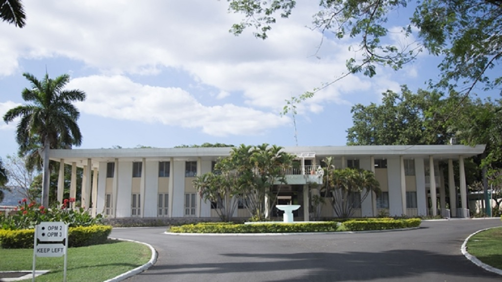 The Office of the Prime Minister is located on the grounds of Jamaica House.