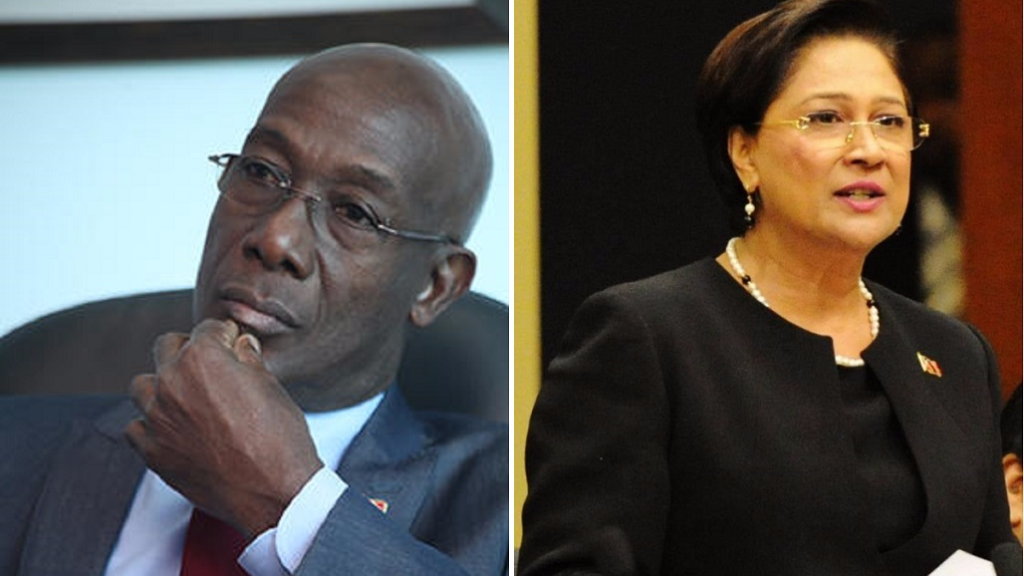 Prime Minister Dr Keith Rowley and Opposition Leader Kamla Persad-Bissessar