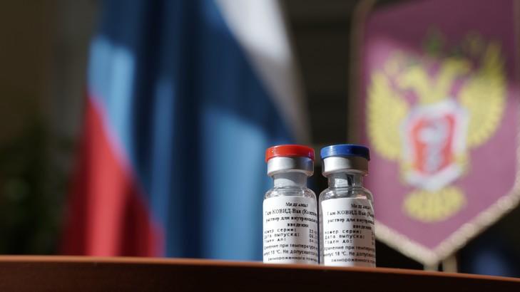 Photo fournie par le ministère russe de la Santé le 11 août 2020 de fioles de vaccins contre le Covid-19 mis au point par le centre de recherchers Gamaleya / Russia's Health Ministry/AFP