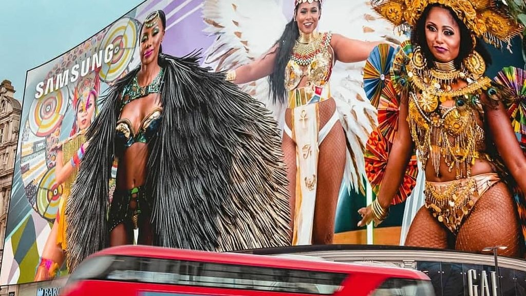 The day before the Notting Hill Carnival takes place virtually, Londoners will get c glimpse of the festivities with a 30-minute trailer on Piccadilly Circus.