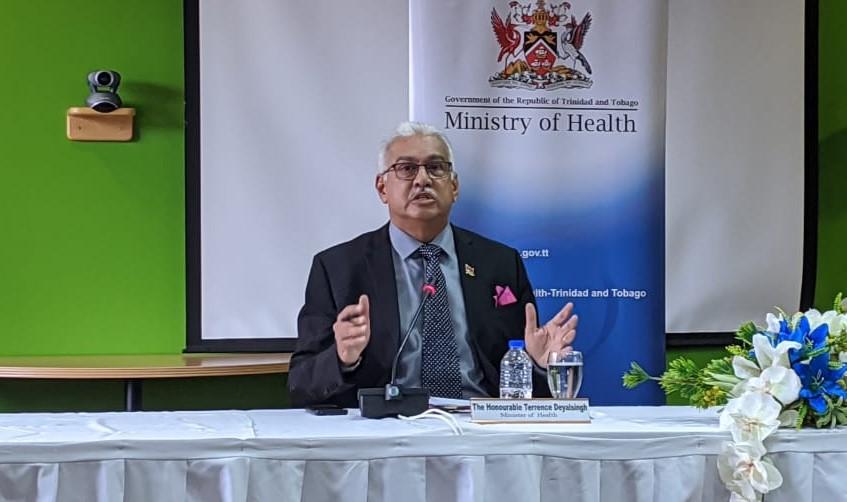 File photo: Health Minister Terrence Deyalsingh
