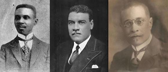 (de gauche à droite) Georges Sylvain, Solon Menos, Dantes Bellegarde, il y manque la photo de Amilcar Duval/ Collage: Loop Haïti