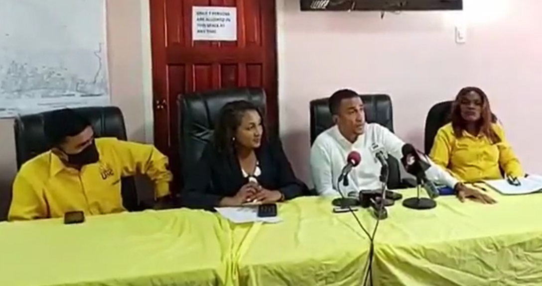 UNC representatives address members of the media.