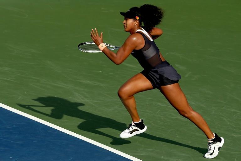 La Japonaise Naomi Osaka lors de son duel face à la Tchèque Karolina Muchova lors du 16e de finale du tournoi de Cincinnati, délocalisé à Flushing Meadows, le 24 août 2020 afp.com - MATTHEW STOCKMAN