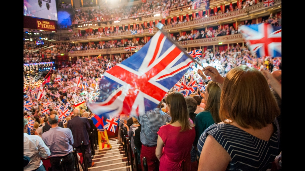 In this Sept. 13, 2014 file photo, members of the audience react during the Last Night of the Proms at the Royal Albert Hall, London. (Guy Bell/PA via AP, File)