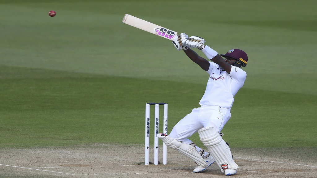 Jermaine Blackwood  in action for West Indies in the recent three-match Test series in England.