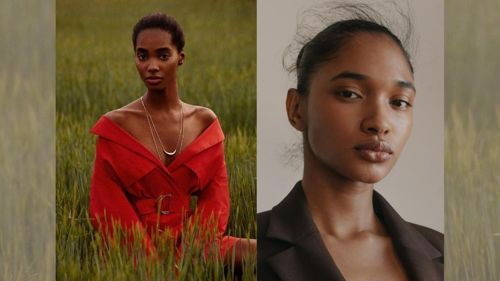 Saint International model Tami Williams (l) and 'Pakistani-Trini-ting' Aleya Ali. (Photos: via Saint International and Wilhelmina Models, respectively)