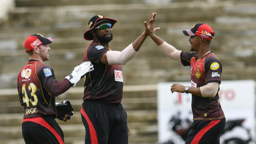 Kieron Pollard led the TKR to victory against the Amazon Warriors at Tarouba