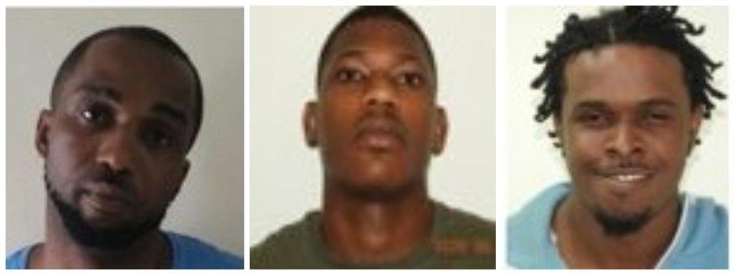 (L-R) Andre Dwayne Burgess, Ramario O'Neal Boxill, Jadai Junior Clarke.