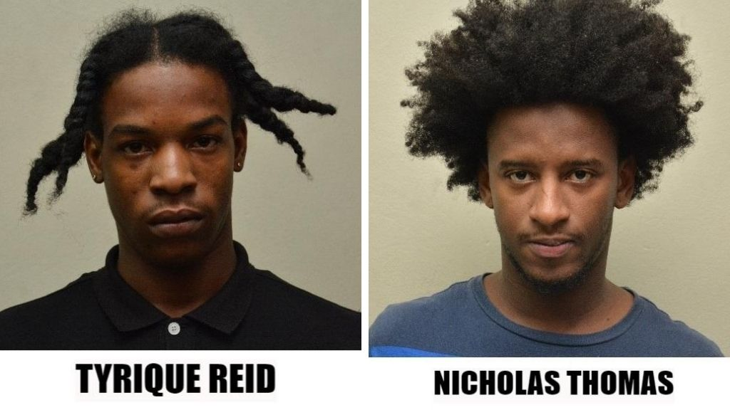 Pictured: Nicholas Thomas and Tyrique Reid are before the court in connection with robberies. Photos courtesy Trinidad and Tobago Police Service.