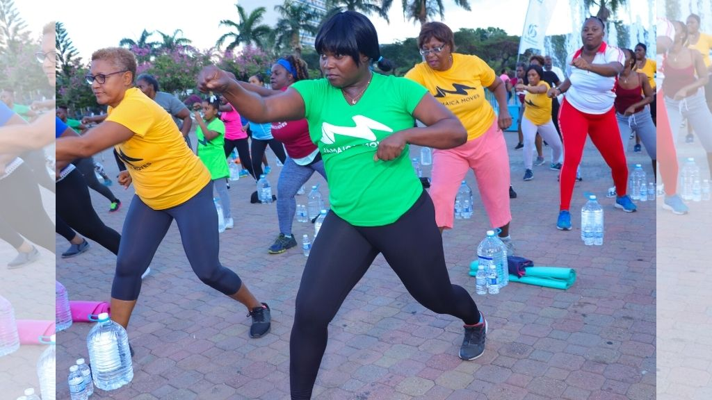 A Jamaica Moves participants kept  movin' at a recent fitness session at the Emancipation Park in Kingston. (Photos: Contributed)