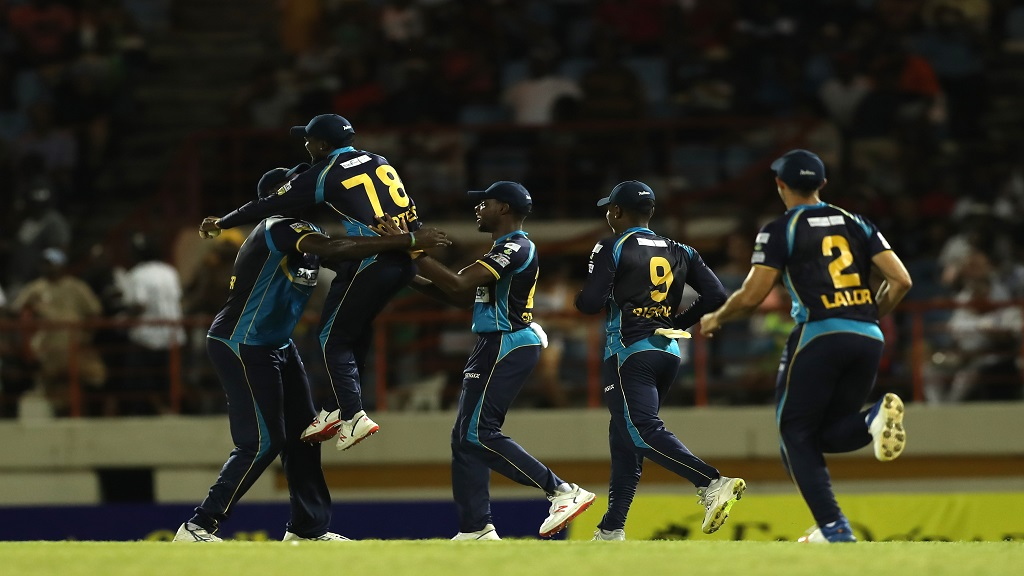 Barbados Tridents players celebrate during last year's Caribbean Premier League.