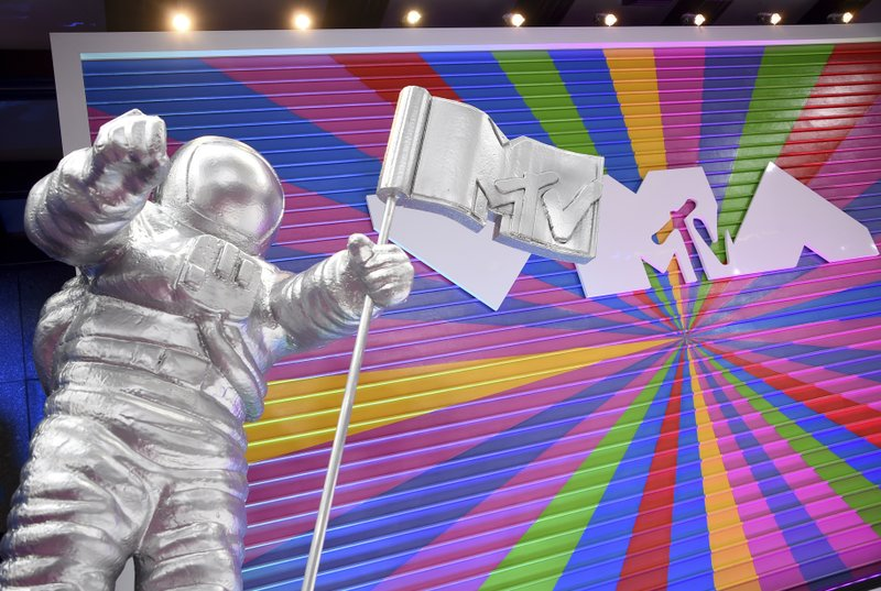 The MTV Moon Man appears on the red carpet at the MTV Video Music Awards at Radio City Music Hall on August 20, 2018, in New York. (Photo by Evan Agostini/Invision/AP, File)
