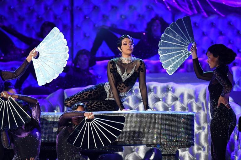 Cardi B sur scène lors de la cérémonie des Grammys, le 10 février 2019 à Los Angeles Robyn Beck AFP