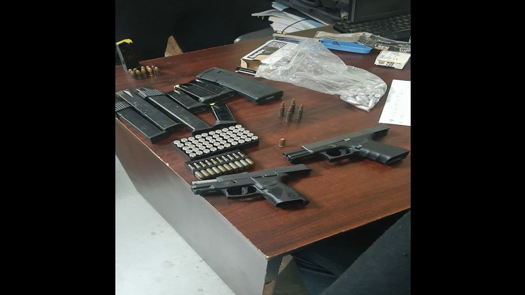 Firearms and ammunition recovered in this morning's operation in Gros Islet