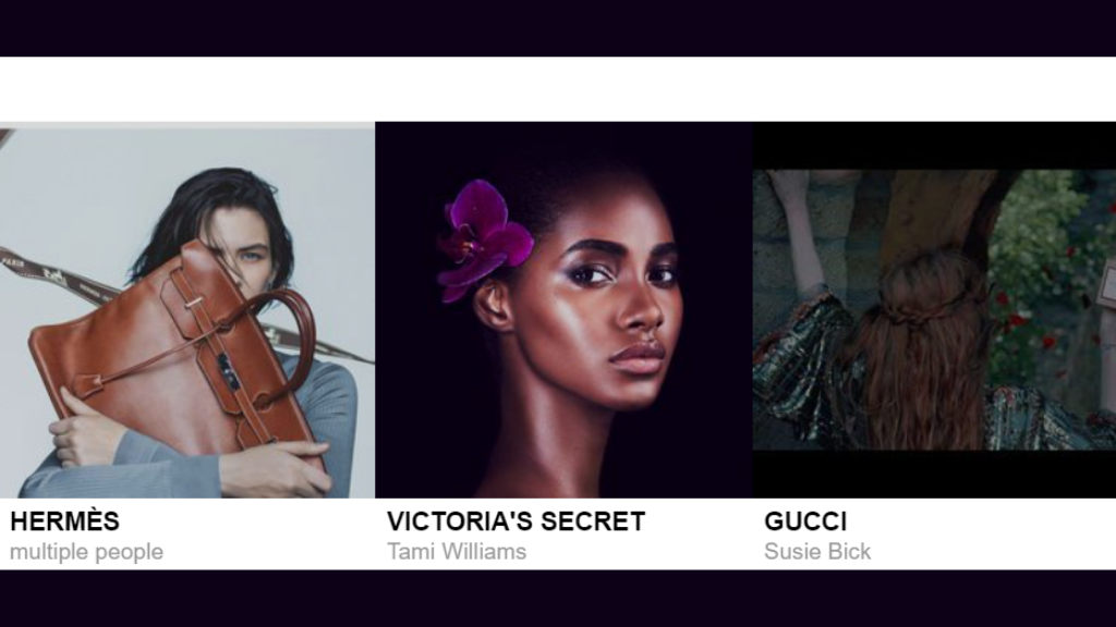 Williams as she appears in the new Victoria's Secret campaign featured on models.com's banner. (Photos: via models.com)