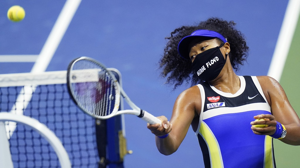 Naomi Osaka at the 2020 US Open.