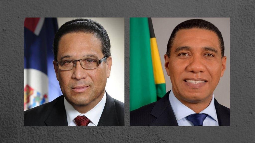 L-R: Cayman Islands' Premier, Hon. Alden McLaughlin, Jamaica's Prime Minister, Hon. Andrew Holness