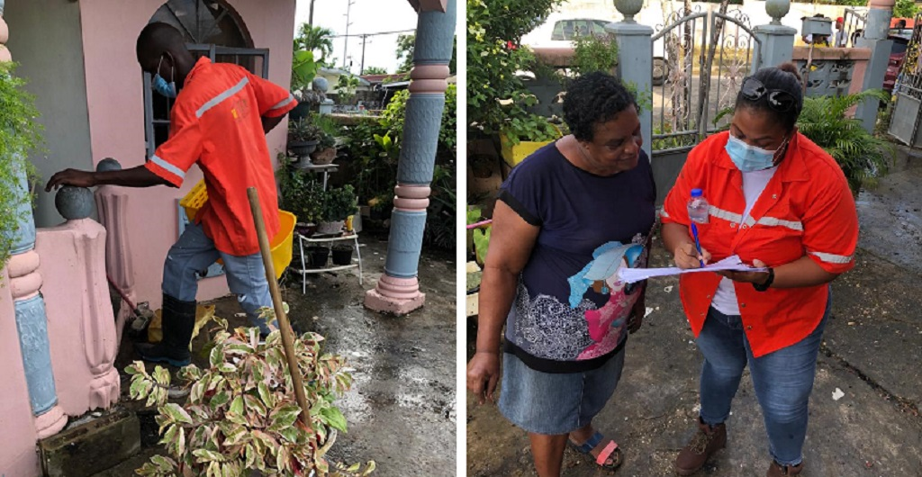 HDC staff assist in clean-up efforts following La Horquetta floods on August 2.