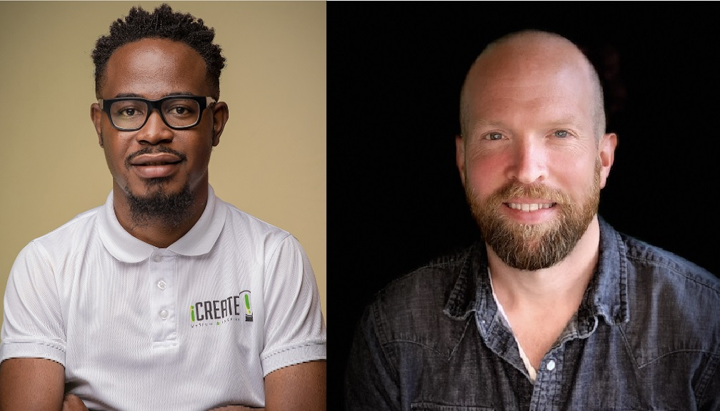 iCreate CEO Tyrone Wilson (left) and Code Fellows VP Mitchell Robertson
