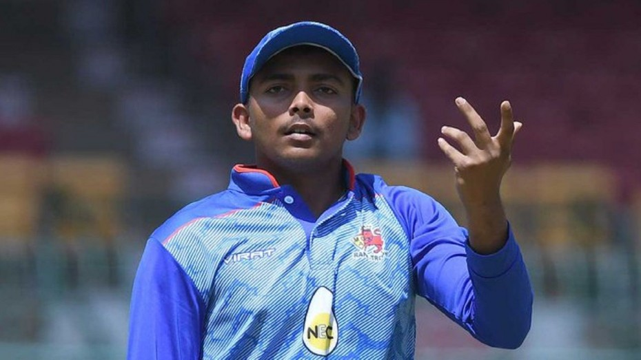 Prithvi Shaw top-scored for the Delhi Capitals in their win over the Chennai Super Kings in Match 7 of the 2020 IPL. (Photo Credit: Twitter)