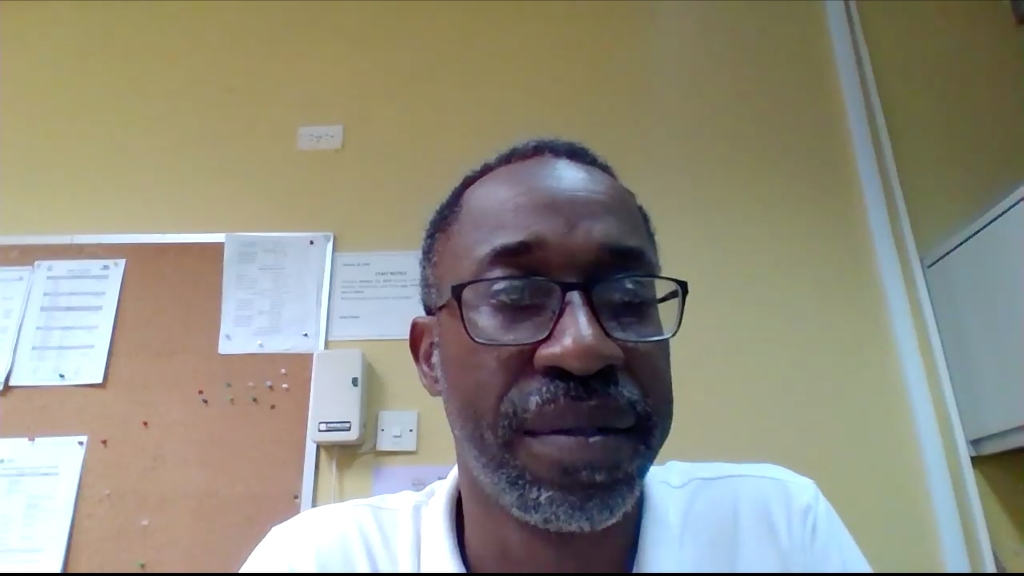 Principal of the Deighton Griffith Secondary School, Anthony Alleyne, in his farewell video.