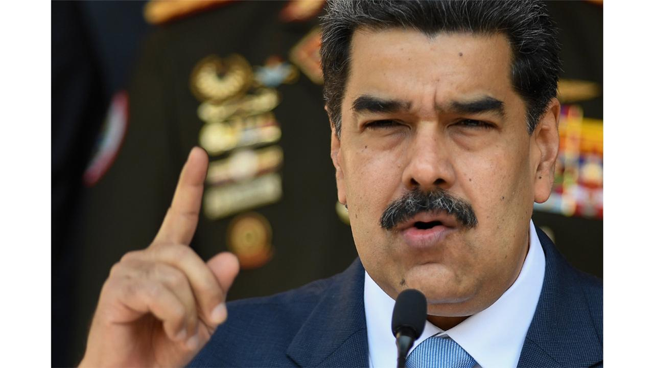 In this March 12, 2020 file photo, Venezuelan President Nicolas Maduro gives a press conference at Miraflores presidential palace in Caracas, Venezuela. (AP Photo/Matias Delacroix, File)