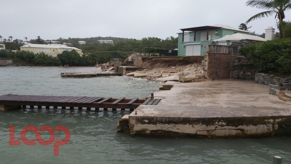 The impact of Hurricane Paulette in Bermuda on September 14, 2020. Photo: Christopher Famous