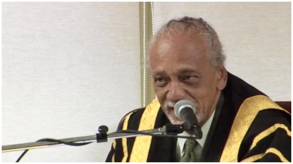 Speaker of the House His Honour Arthur Holder