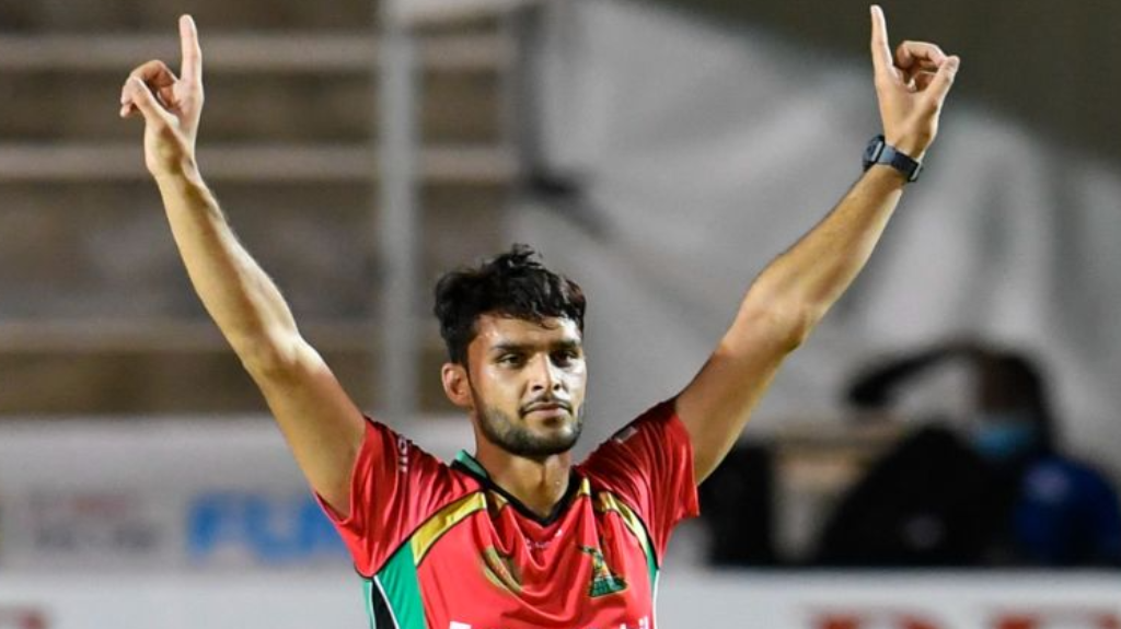 Afghanistan's Naveen-ul_Haq has taken 11 wickets in the 2020 Hero Caribbean Premier League. (Photo by Randy Brooks - CPLT20/Getty Images)