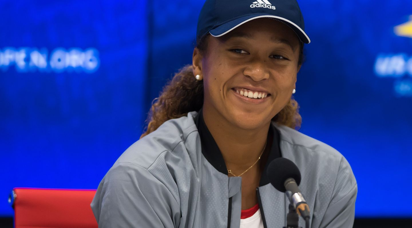 Naomi Osaka lors d'une conference de presse: Photo: WTA