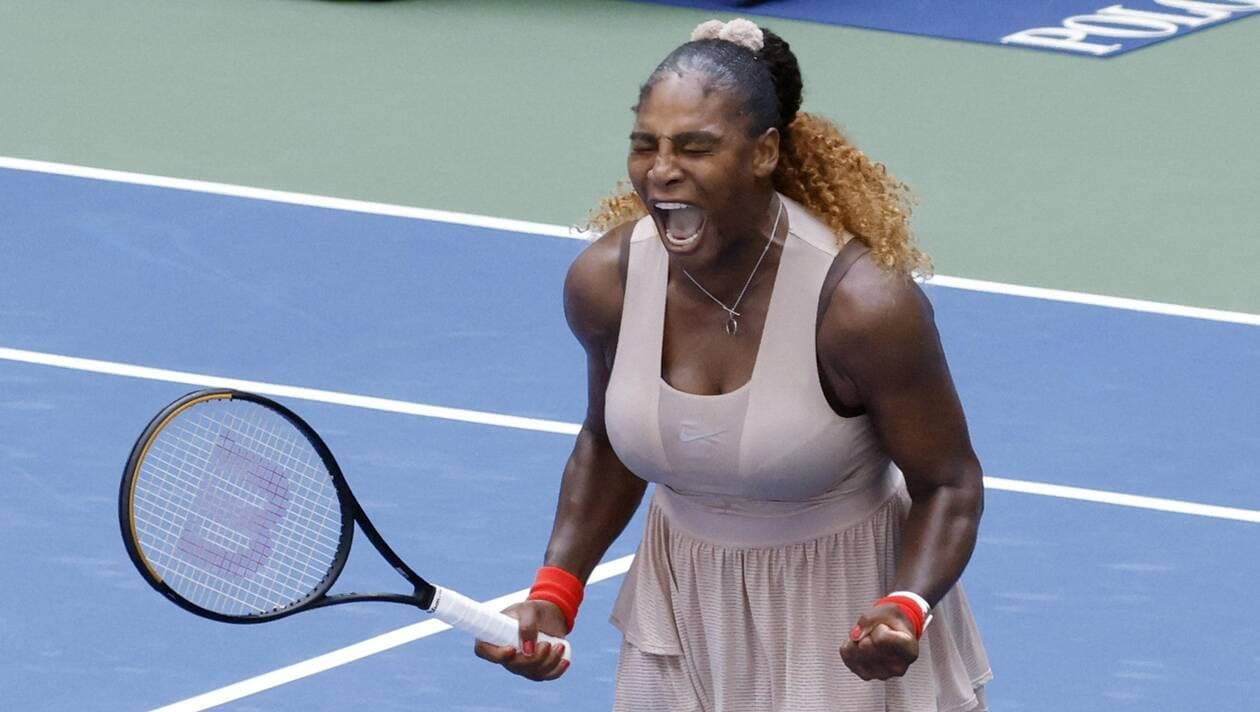Serena Williams a pris sa revanche sur Maria Sakkari après sa défaite lors du tournoi de Cincinnati. | EPA/MAXPPP