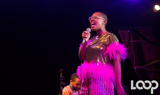 Cécile McLorin Salvant au festival international de Jazz de Port-au-Prince en 2019/ Photo: Rosny Ladouceur/Loop Haïti