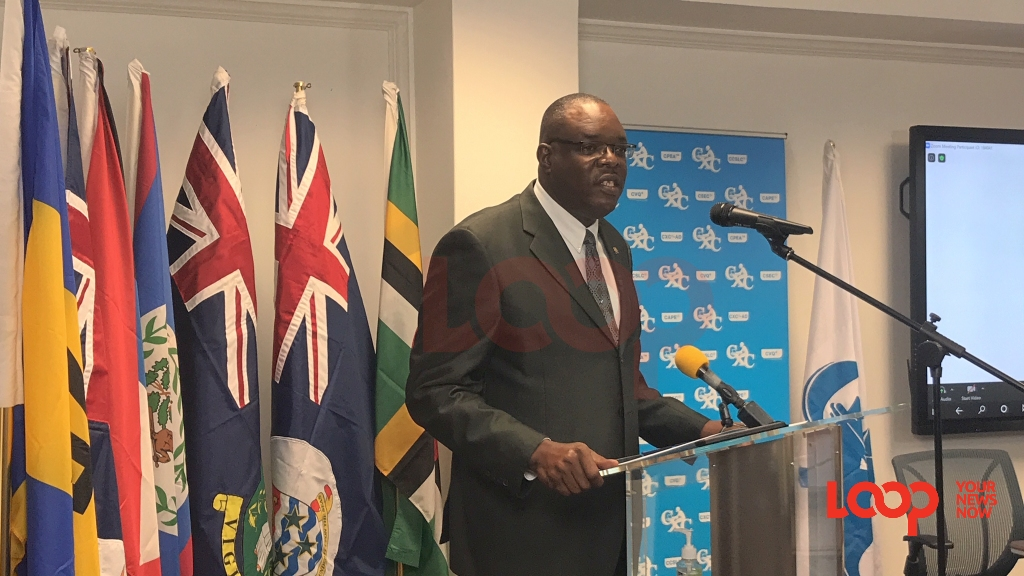 CXC Registrar and CEO Dr Wayne Wesley speaking at the Official Release of the July 2020 Examination Results. He was at the CXC headquarters in Barbados on September 22.