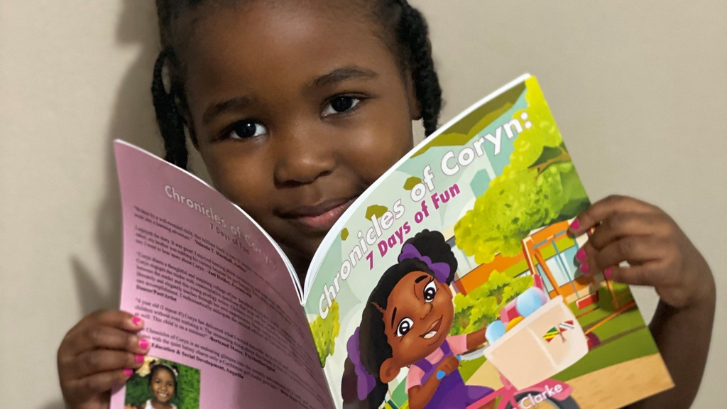 4-year-old Coryn Clarke is the face of the Children's Bocas Lit Fest