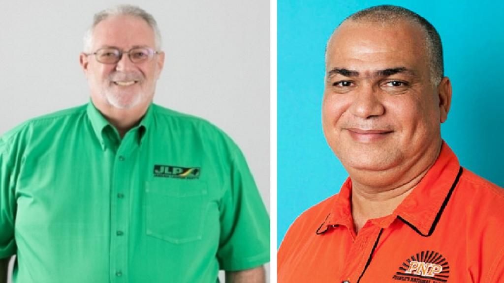 The JLP's Phillip Henriques (left) and the PNP's Richard Azan.