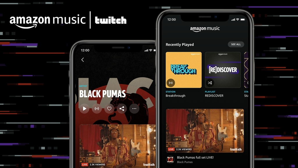 Amazon Music and Twitch partner to combine live streaming with on-demand listening (Graphic: Business Wire)