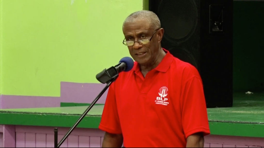 Former Member of Parliament, Gline Clarke speaking at the BLP annual general meeting.