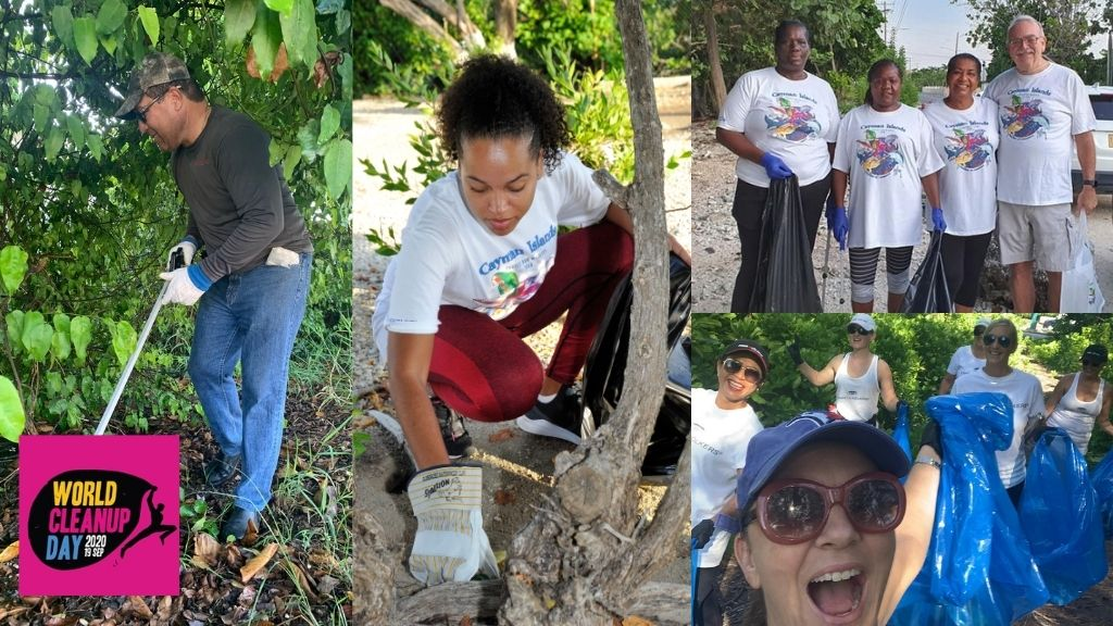 From Cayman's Premier, Hon. Alden McLaughlin, to Minister of Finance & Economic Development, Hon. Roy McTaggart, to staff from Engel & Volkers and CTC HR Manager Yentel McGaw-- so many took part in the clean up this weekend