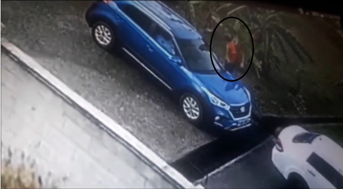 A screenshot from a video which shows the fatal shooting of a man in Moruga.