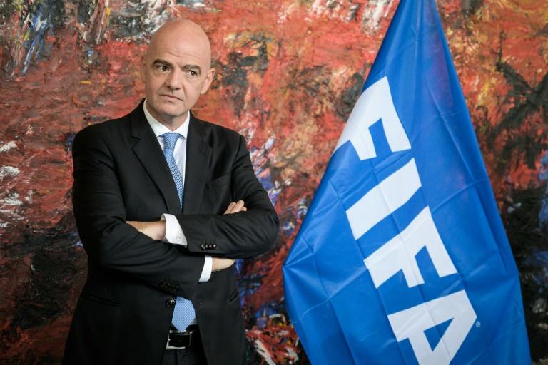 Le président de la Fifa, Gianni Infantino. PHOTO - AFP/ARCHIVES - FABRICE COFFRINI