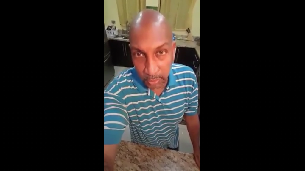 Pictured: Anil Roberts. Photo taken from screengrab of video posted to social media.