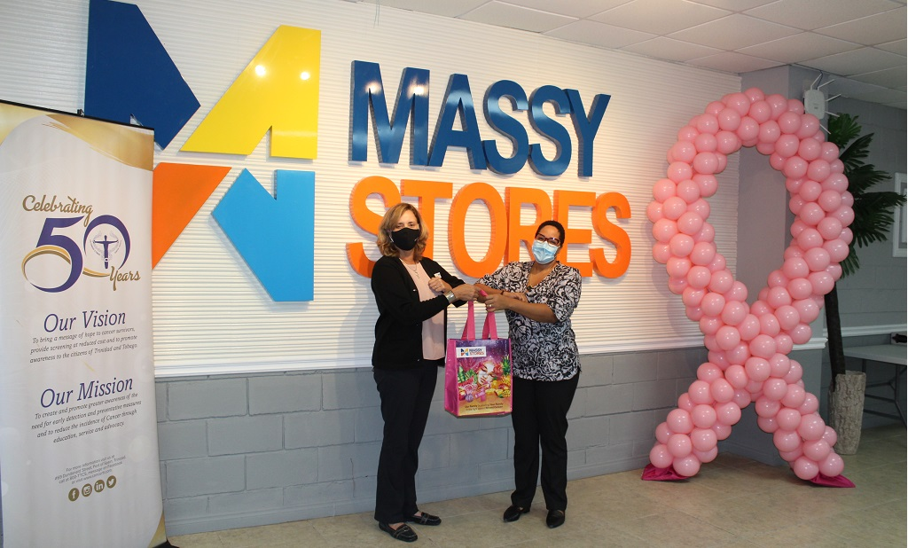 Massy Stores CEO Roxane de Freitas (left) with Trinidad