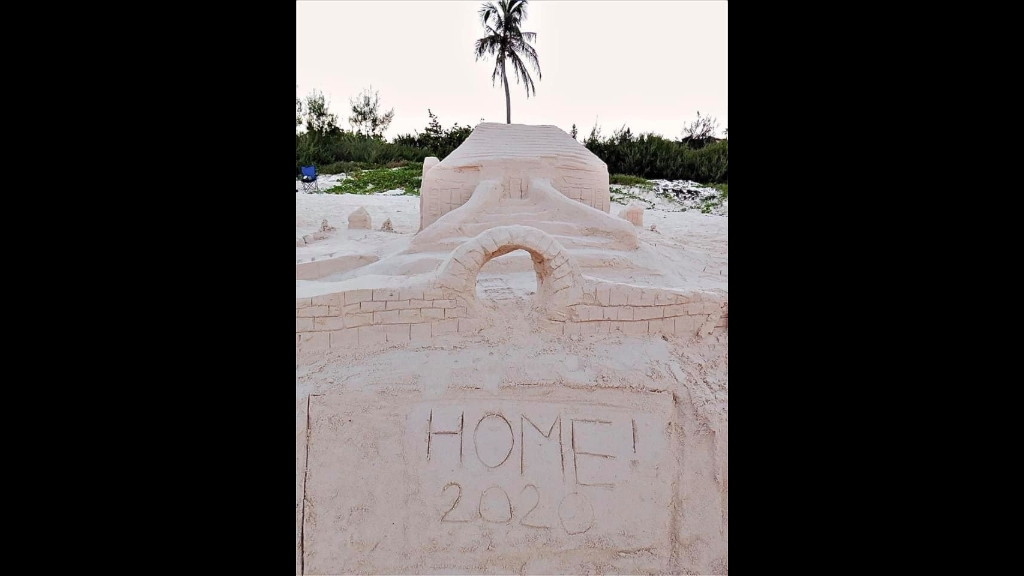 The winning sand castle of the Bermuda Sandcastle Competition. Photo: Hannah Emmerson/Bermuda Sandcastle Competition.
