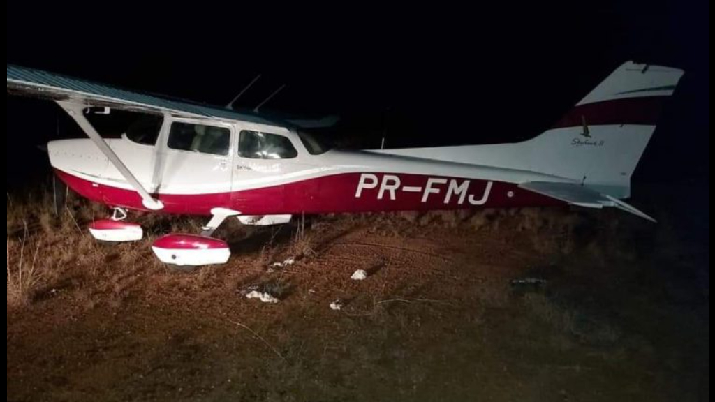 The Cessna 206 aircraft which was piloted by a Brazilian and Venezuelan national.